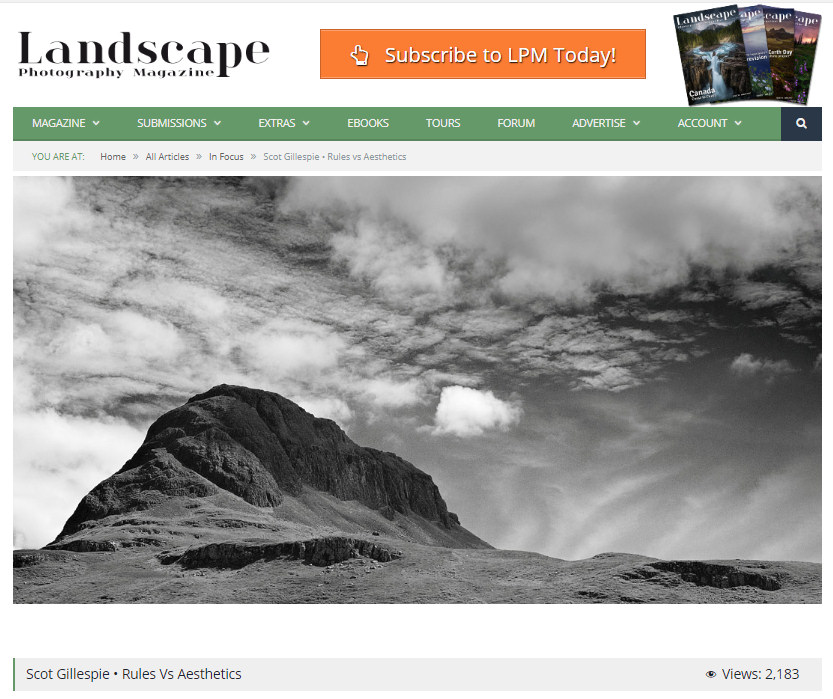 Landscape Photography Magazine Article April 2018